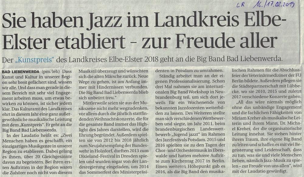 Lausitzer Rundschau 16.02.2019